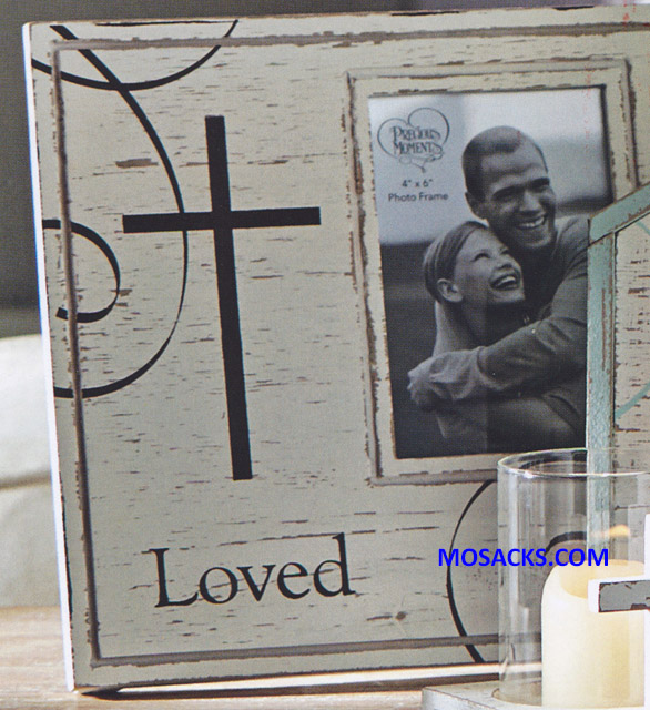 "Precious Moments Loved Photo Frame 10"" h 173425"