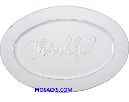 "Bountiful Blessings Thankful Platter 18"" x 12"" 179009"