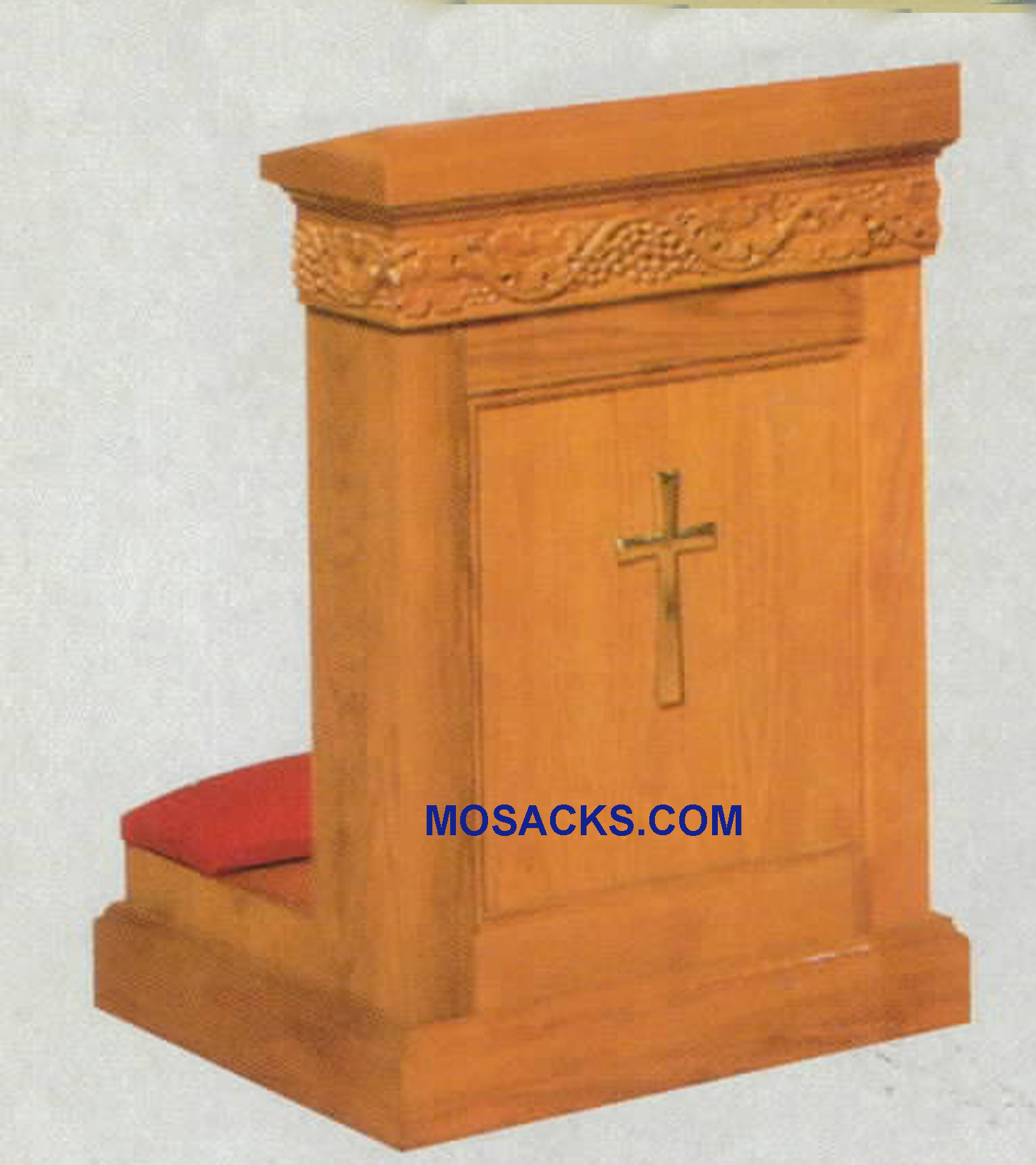 "Prie Dieu Kneeler with shelf 36""w x 23""d, 34""h #1411 W Brand Church Furniture at Mosack's"