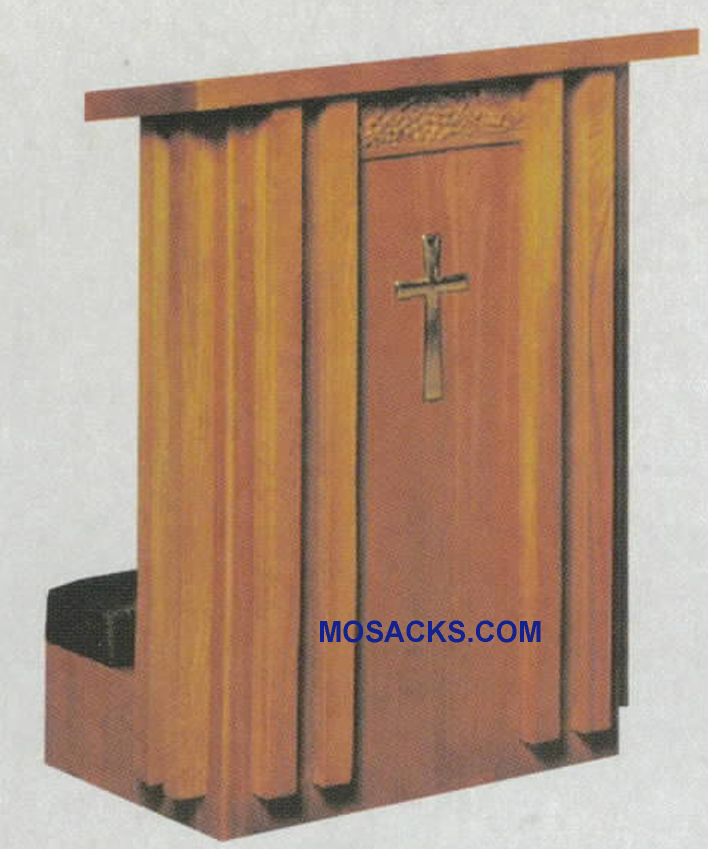 "Prie Dieu Kneeler with shelf 40""w x 22""d, 36""h #2011 W Brand Church Furniture at Mosack's"