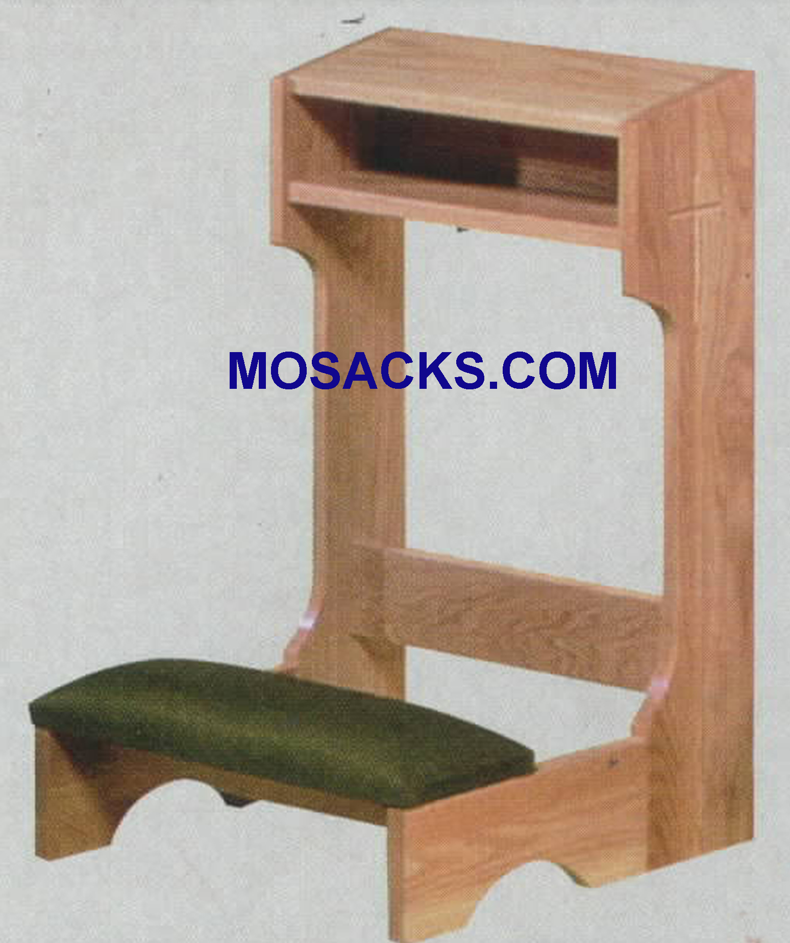 Prie Dieu upcharge for converting to a folding kneeler 2522F