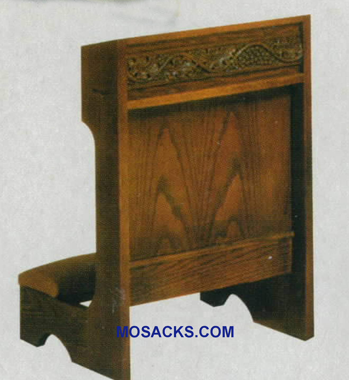 "Prie Dieu Kneeler with shelf 22""w x 19""d, 32""h #5040 W Brand Church Furniture at Mosack's"