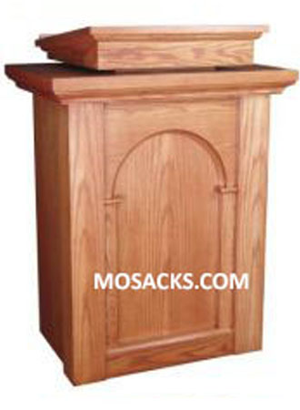 Church Furniture Wooden Pulpit with Arch Design and two inside shelves 40-590