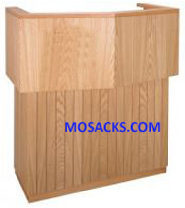 Church Furnishings Wooden Pulpit with Extended Shelf for Lamp and Microphone has Two Inside Shelves 40-3751