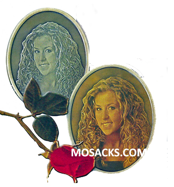 3-D Color Bronze Oval Memorial Specialty Plaque