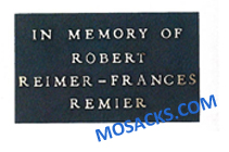 Bronze Memorial Plaque with Traditional Design