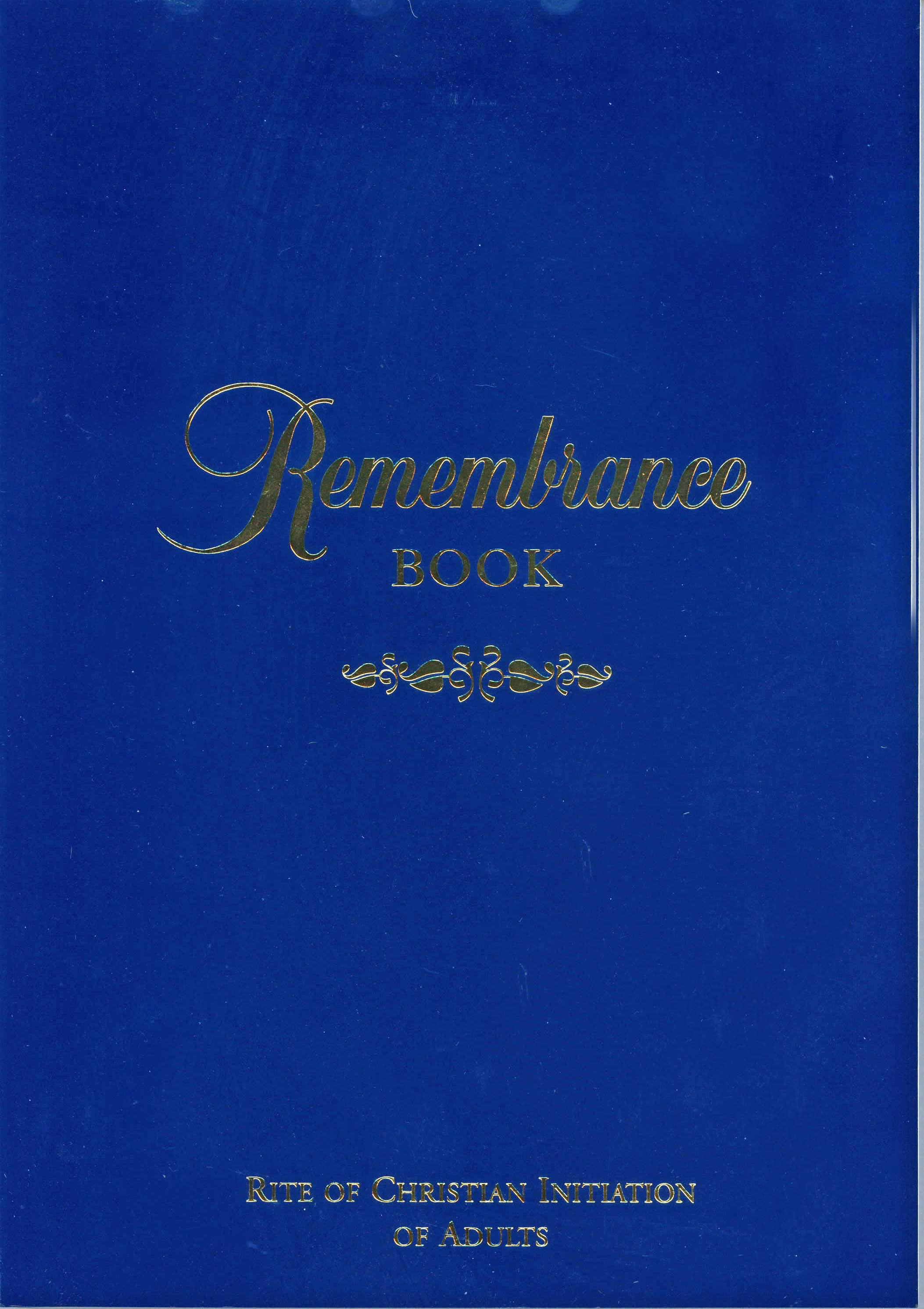 Remembrance Book by RCL Benziger 347-9780782907681