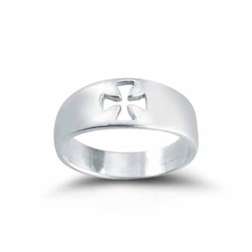 Ring Pierced Cross Faith Sizes: 5-8  R4207