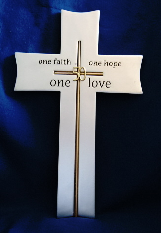 One Love 50th Anniversary Wall Cross from Roman, Inc. 9 inches High 11814