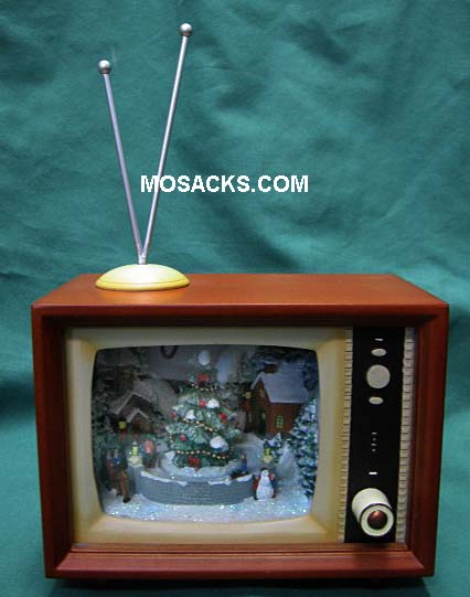 Retro Lighted Musical TV w/ Sledders Roman Inc. #36432