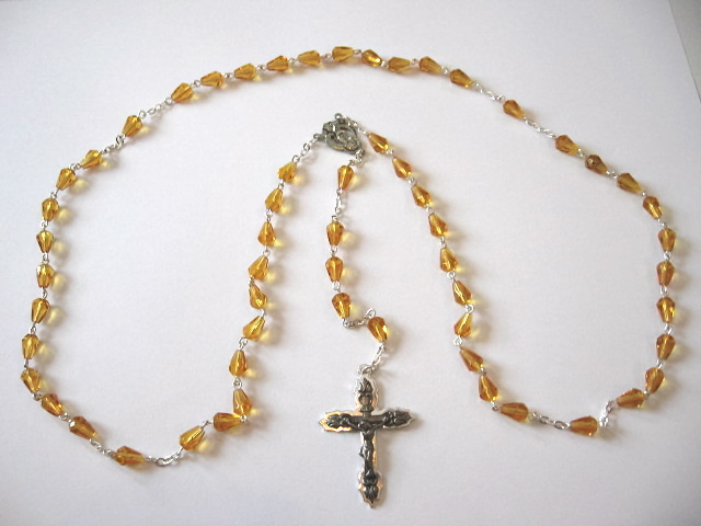 Glass Amber Rosary #39561