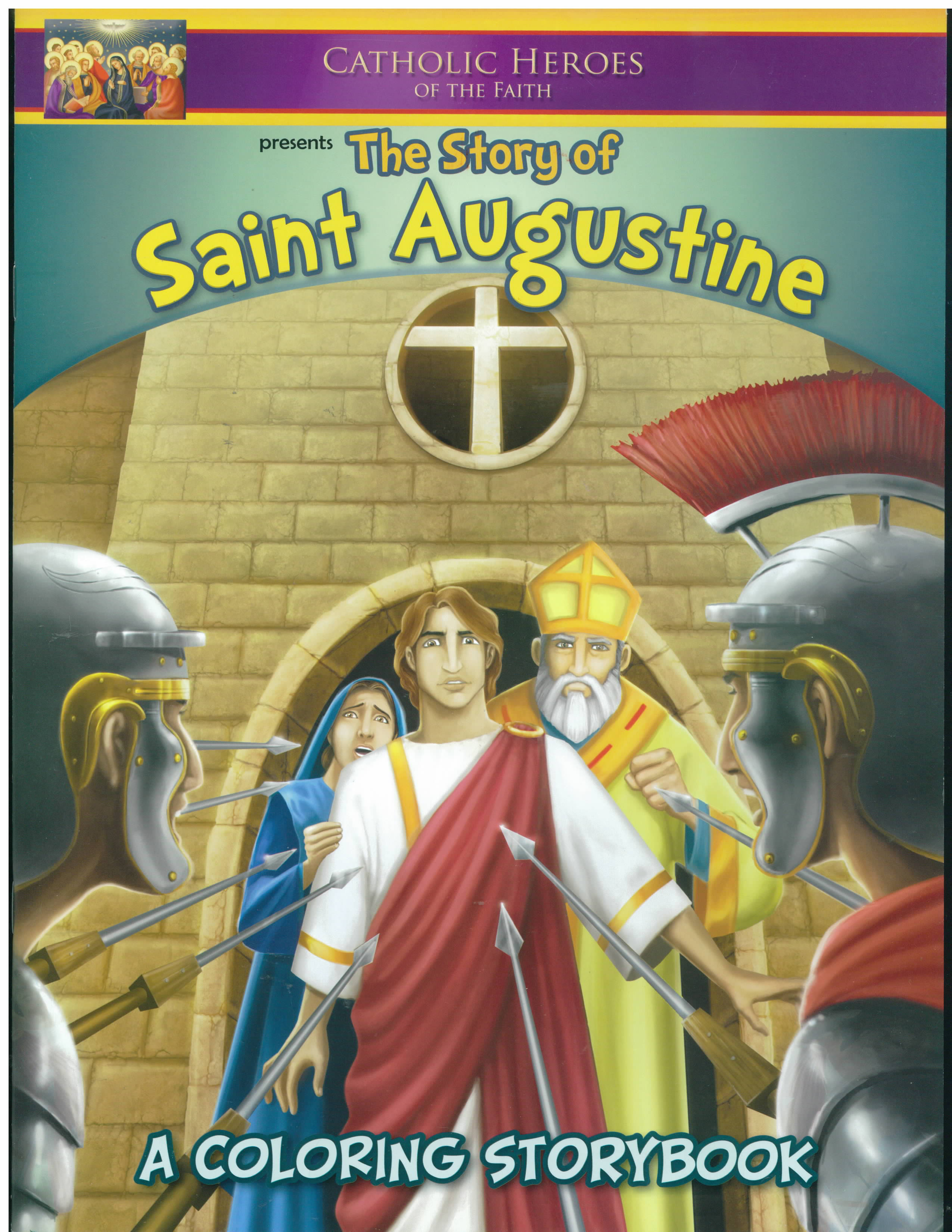Saint Augustine Coloring Storybook-CSB-AUG