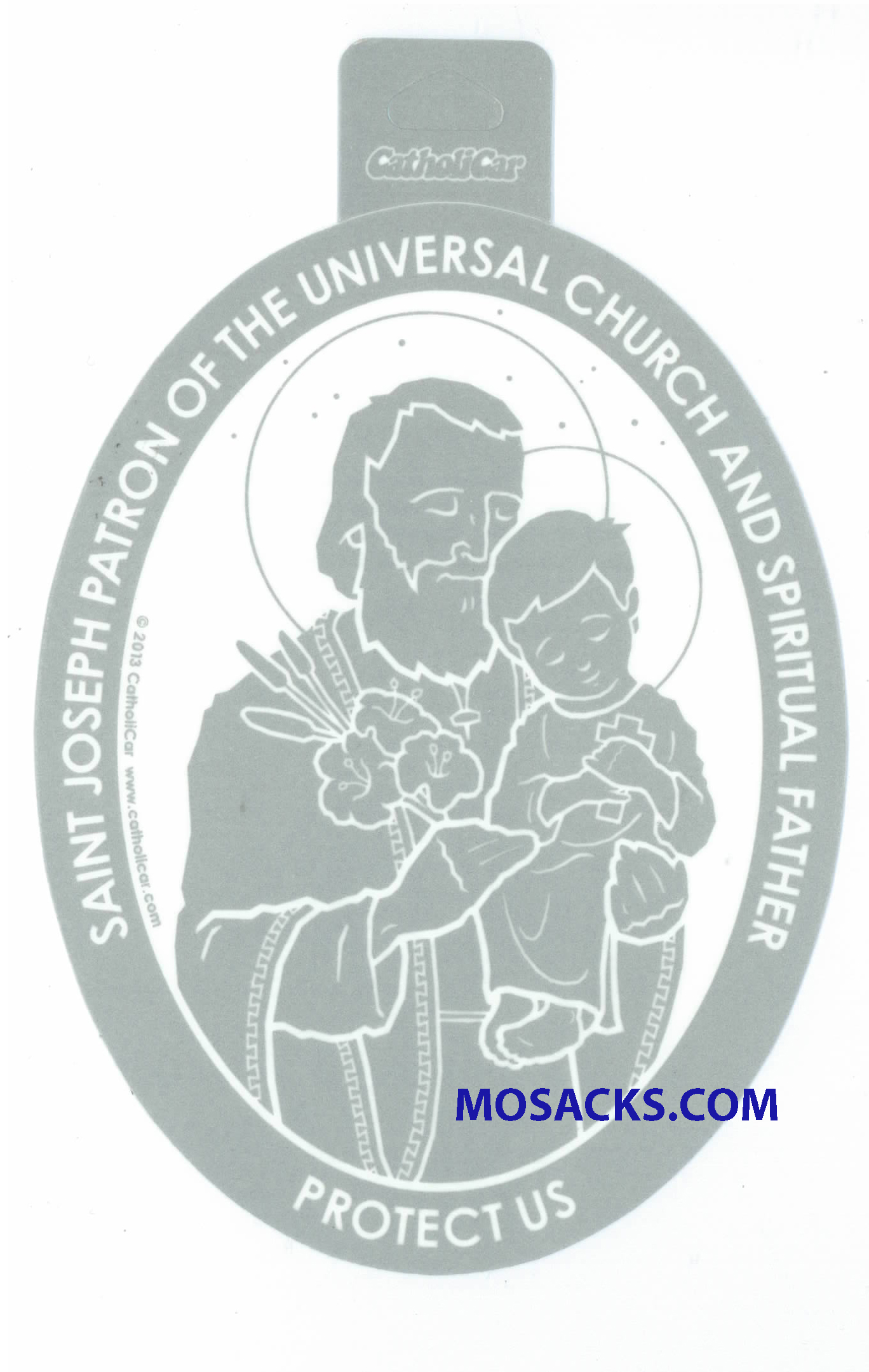 Saint Joseph Oval Decal
