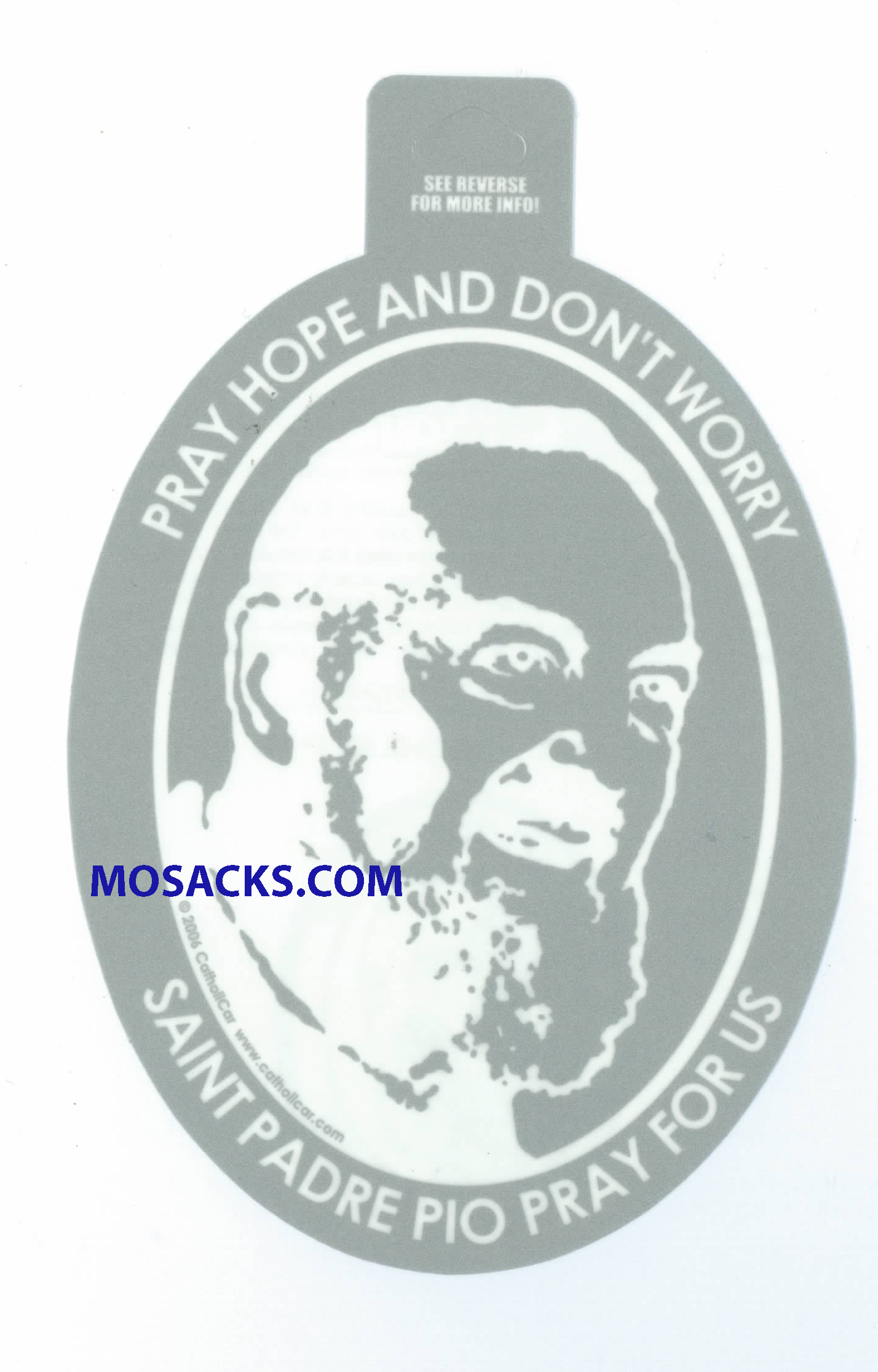 Saint Padre Pio Oval Decal Christian Decal, Catholic Decal