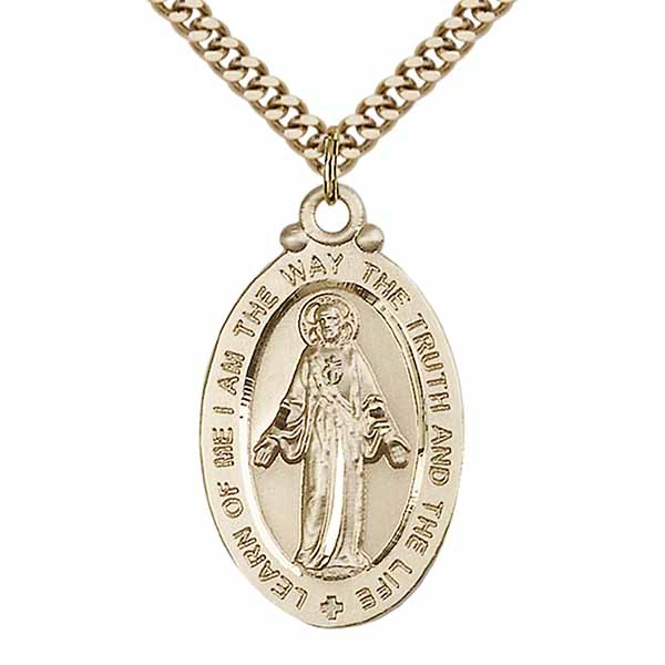 "Scapular medal Large 12 KT Gold Filled 1 1/8""-4145SGF/18GF"
