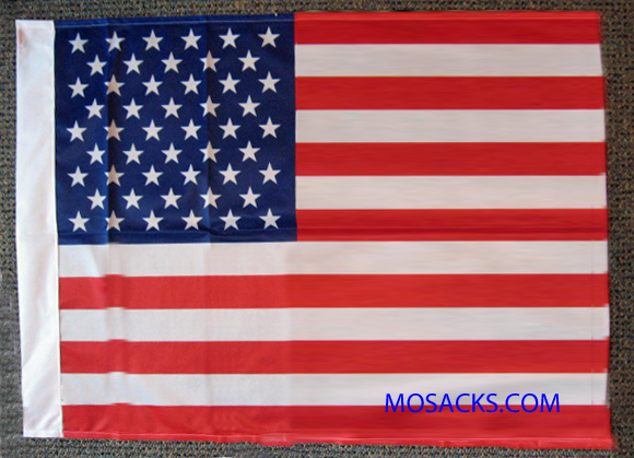 "Self-Sleeve 27"" x 37"" Polyester U.S. Flag, #2600"