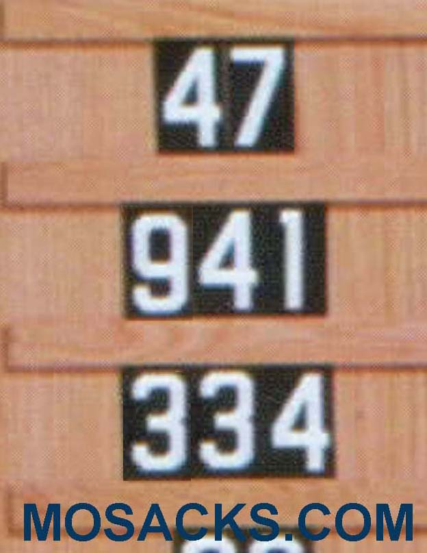 "Set of Hymn Board Numbers (0-9) 2"" w x 3-1/2"" h 4290N"