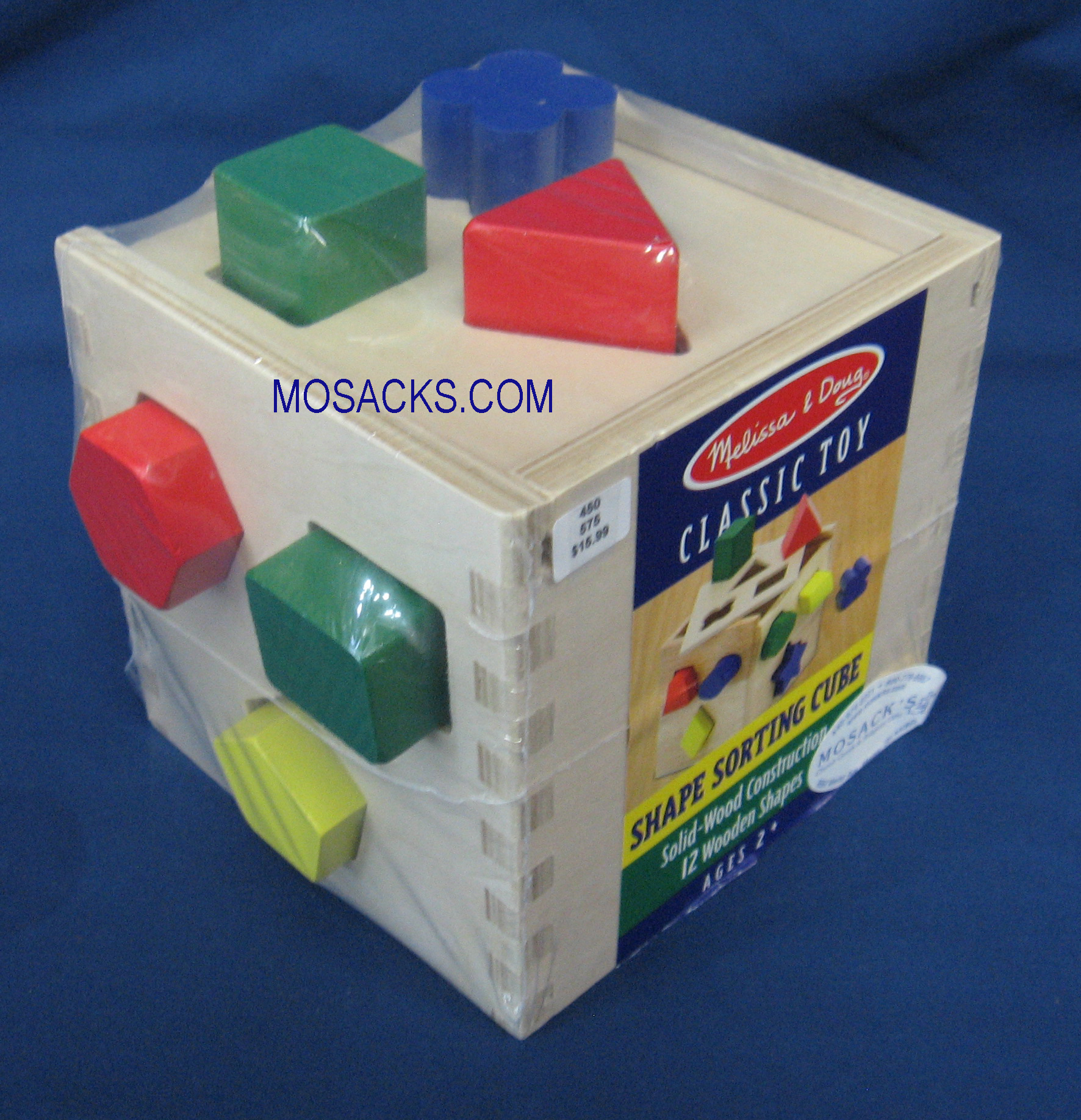 Shape Sorting Cube Wood Toy Age 2+ 00077200575