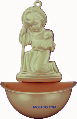 Good Shepherd 5 Inch Tan Holy Water Font 185-902T