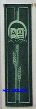 Slabbinck Large Inside Banner Alpha-Omega & Wheat 7127