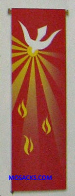Slabbinck Large Inside Banner 7151 Holy Spirit with Flames