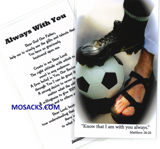 Soccer Sports Laminated Holy Card 477-SOCCER PRAYER CARD