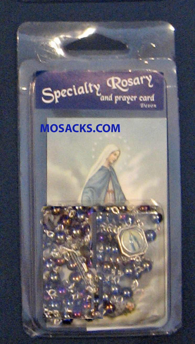 Specialty Rosary Our Lady Of Grace Memorare Prayer Card 64-967/LOG/C1