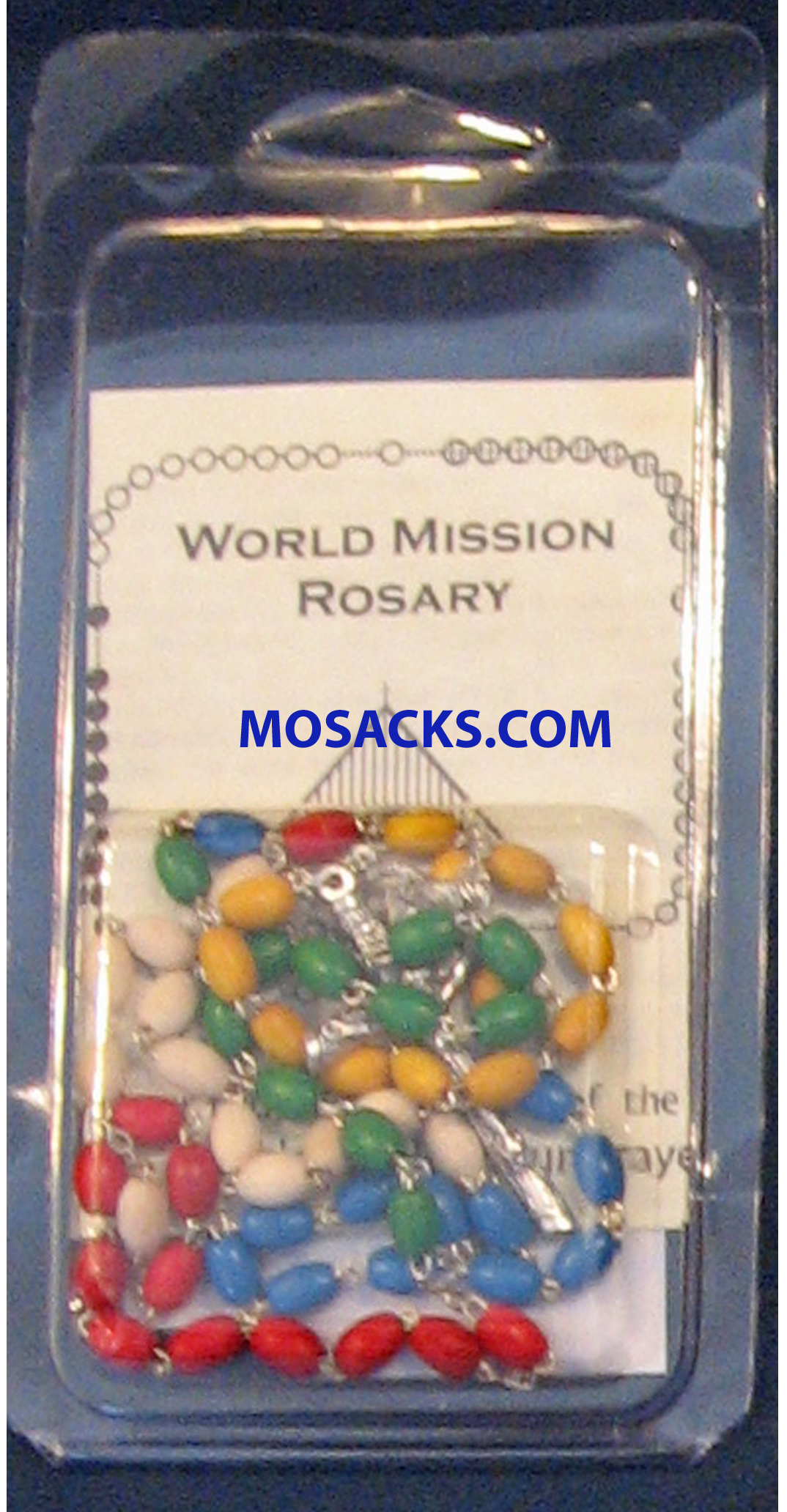 Rosary for the Missions Specialty Rosary World Mission Wood Rosary and World Mission Rosary Insert 64-416/C1