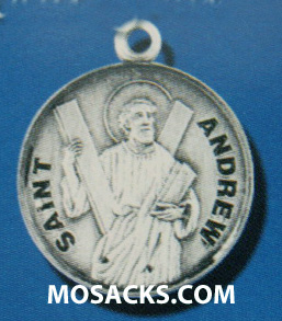 "St. Andrew Sterling Medal w/20"" S Chain"