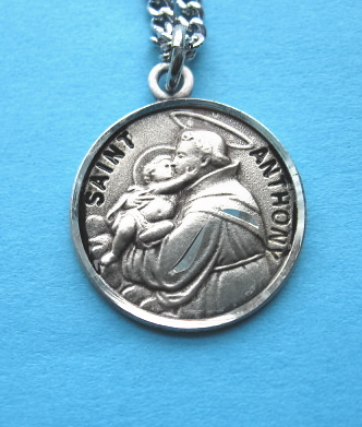 "St. Anthony Sterling Medal w/20"" S Chain"