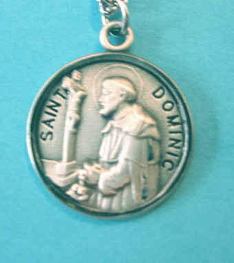 "St. Dominic Sterling Medal w/20"" S Chain"