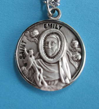 "St. Emily Sterling Medal w/18"" S Chain"