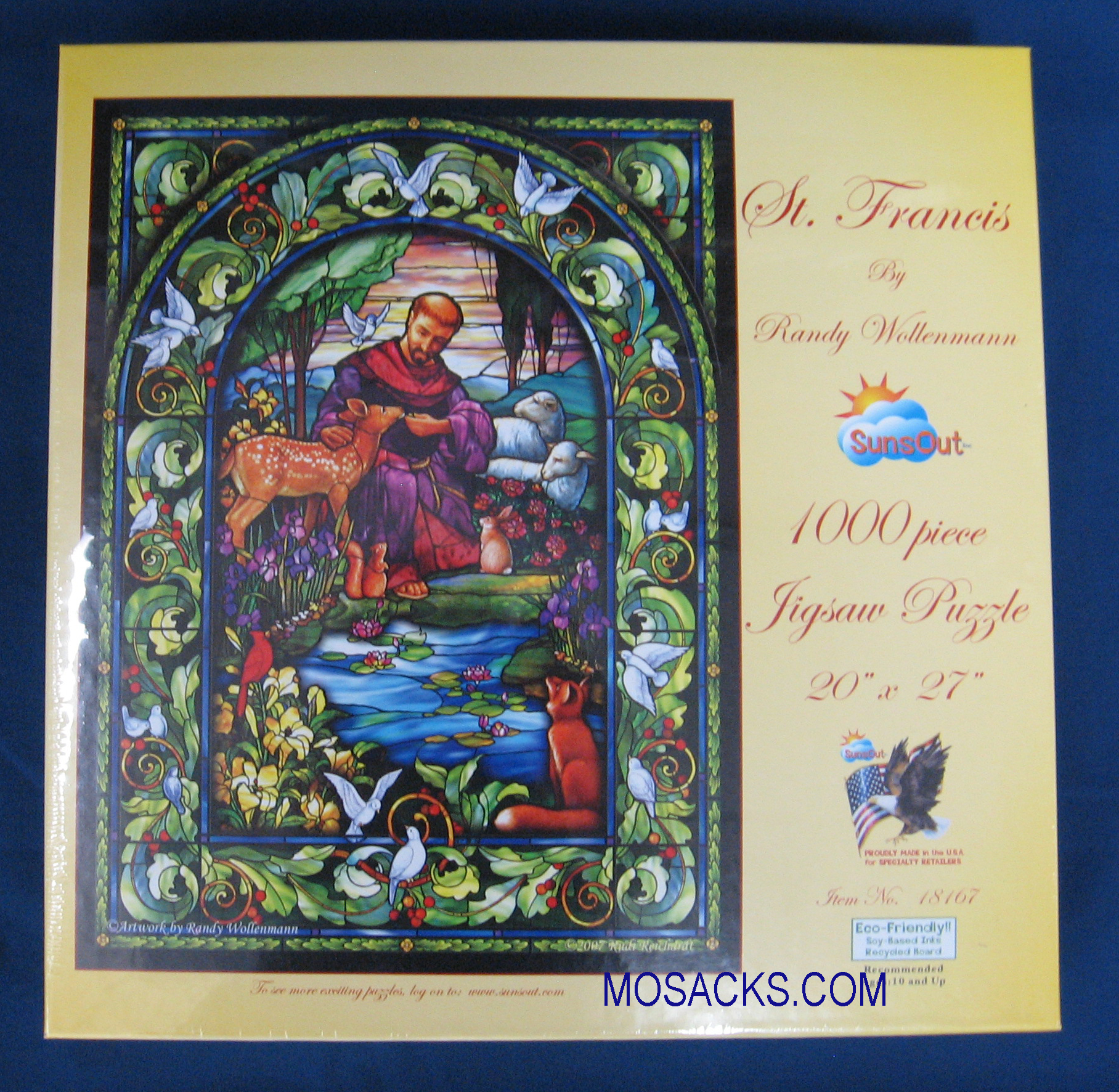 St Francis 1000 piece 20x27 Inch Puzzle 18167