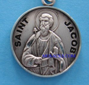 "St. Jacob Sterling Medal w/20"" S Chain"