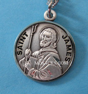 "St. James Sterling Medal w/20"" S Chain"