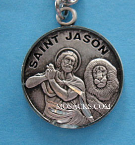 "St. Jason Sterling Silver Medal, 20"" S Chain, S-9577-20S"