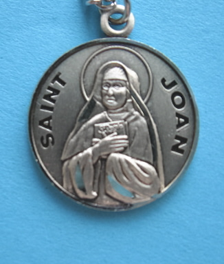 "St. Joan Sterling Medal w/18"" S Chain"