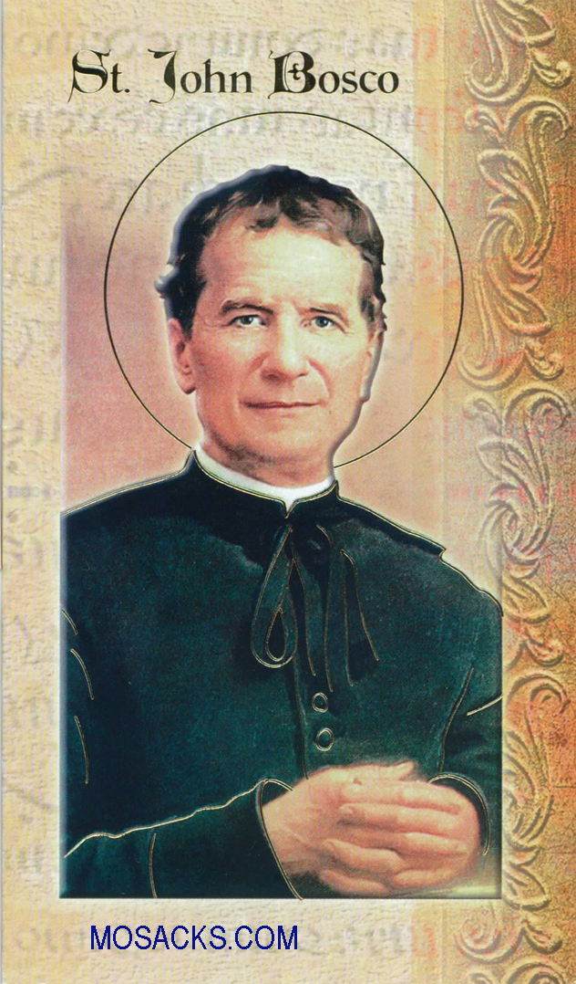 St. John Bosco laminated Bi-fold Holy Card, F5-468