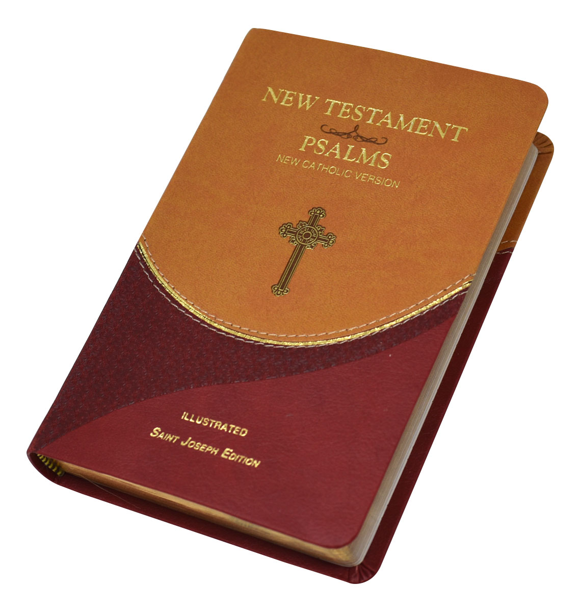 St. Joseph New Catholic Version New Testament and Psalms Brown/Burgundy Dura-Lux 647/19BN