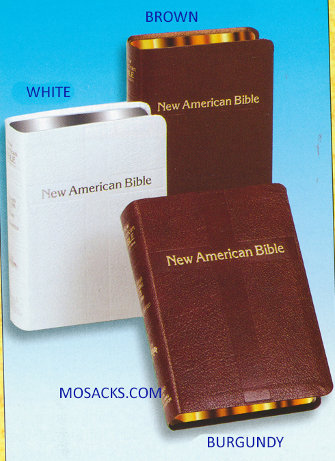 St. Joseph NABRE Personal Size Leather WHITE Cover 9780899425535 510/13W Catholic Bible in Smaller Personal Size
