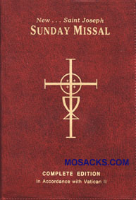 820/09 St. Joseph Sunday Missal in Red Vinyl Cover #9780899428208