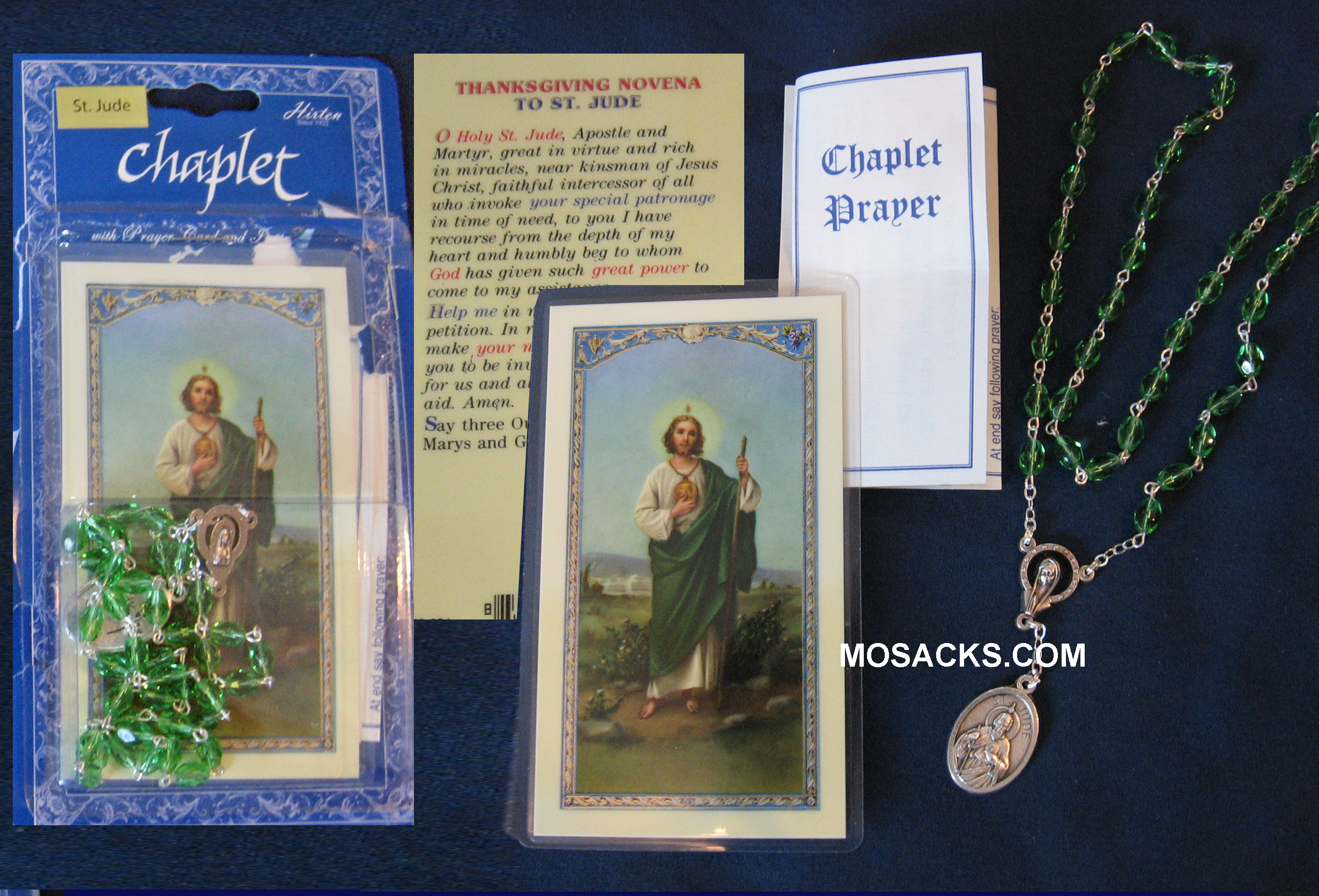 St. Jude Chaplet and Prayer Card, 044