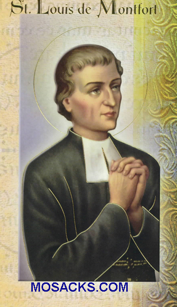 St. Louis de Montfort Bi-fold Holy Card, F5-480