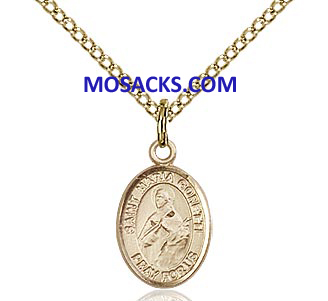 "St. Maria Goretti 12 KT Gold Filled Medal 1/2""-9208GFY"