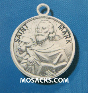 "St. Mark Sterling Silver Medal, 20"" S Chain, S-9614-20S"
