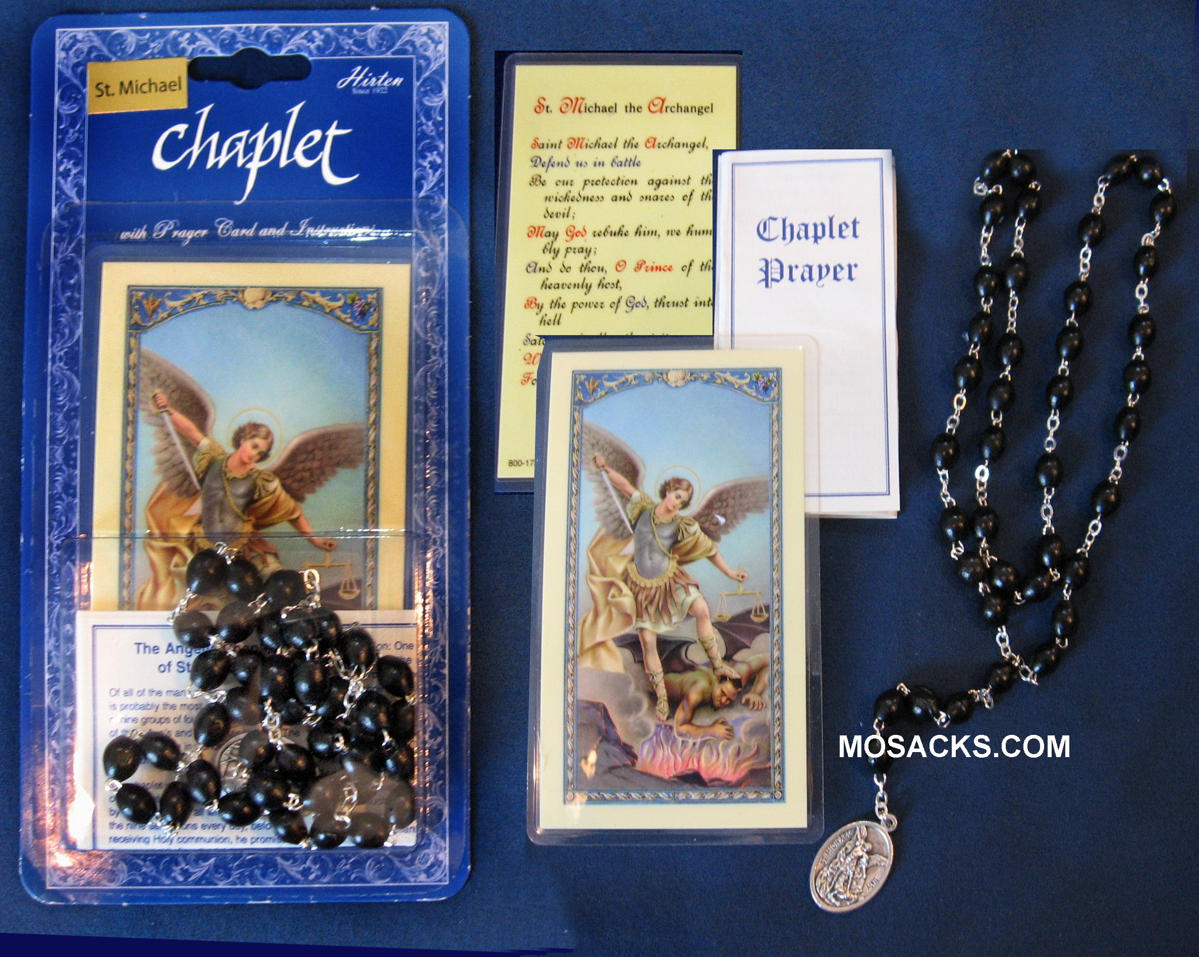 St. Michael Chaplet and Prayer Card, 190-01