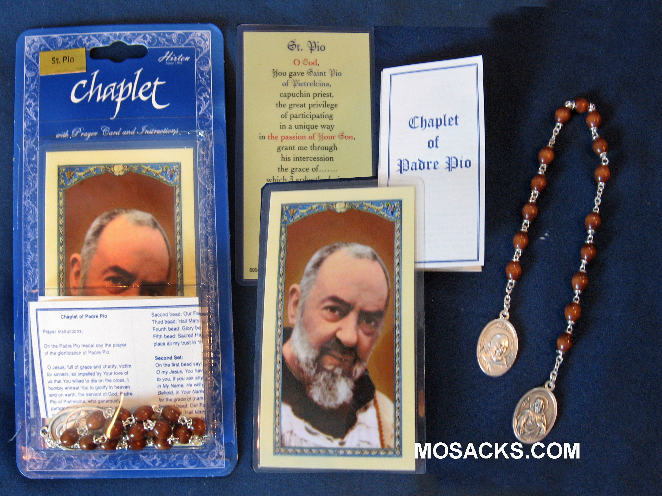 St. Padre Pio Chaplet and Prayer Card 01073