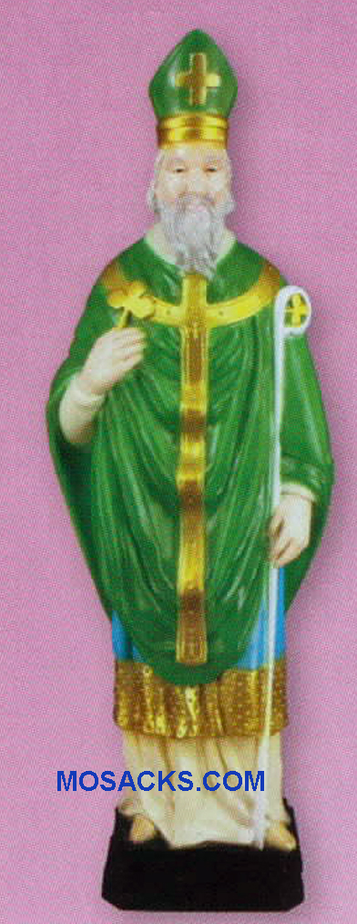 Religious Outdoor Statue of St. Patrick 24 Inch PVC Garden Statue-SA2424C