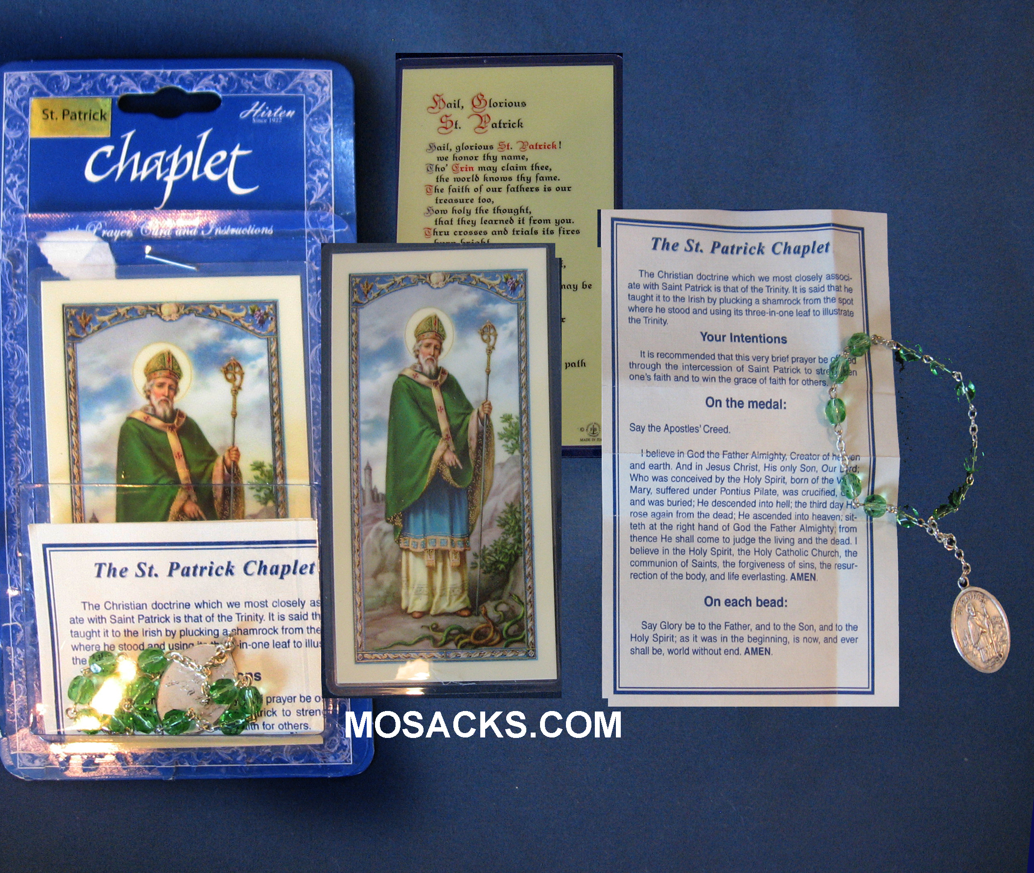 St. Patrick Chaplet and Prayer Card, 058