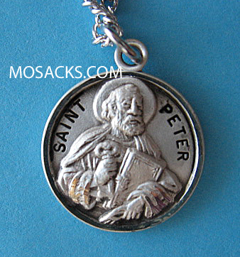 "St. Peter Sterling Medal w/20"" S Chain"